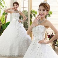 2014 tube top type bride plus size bandage brief wedding dress hs