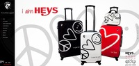 Free shipping US Heys luggage trolley wheels Spinner World peace series smiley luggage