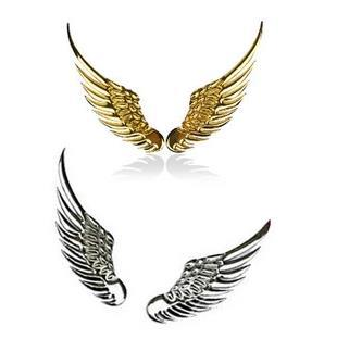 Cool Personalized 3D Metal Car Stickers Wings Car Decals 3D Stereo Eagle Wings Car Sticker/Auto Supplier Accessories 1pair/lot(China (Mainland))