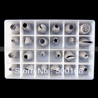 Free Shipping Cake 24 Pcs Nozzles Icing Piping Pastry Sugarcraft Pastry Tools Set Decoration