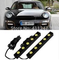 Free Shipping Good Quality Aluminium Shell bright running lights/Daytime Running Light LED DRL for Car LED Bulbs