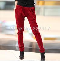 New 2014 Spring Corduroy Pencil pants Candy color Basic Casual Women pants Boots trousers Capri pants Sweatpants Harem pants