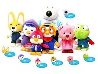 Hot sales Korea Pororo Little Penguin Plush toys doll wave Lulu and his friends personality gift for children cartoon