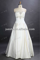 In Stock Ready TO Ship Classic Embroidery Satin A-line Wedding Dress On Sale