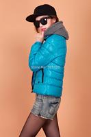 Brand New Blue Womens Lady Cotton Jacket Coat Winter Warm Padded Puffer Girl coat