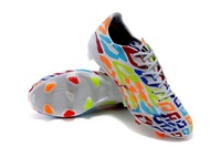 2014 rainbow soccer shoes for men's world cup birthday cleats outdoor messi athletic boots newest arrivals cheap on sale hotsale