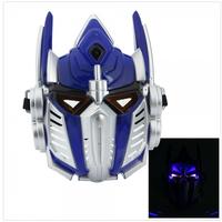 Cool Luminous Plastic Robot Hero Optimus Prime Mask Cartoon Cosplay Mask With Light Vocalization Mask Transformers mask