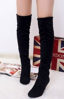 Free shipping high heel knee boots women fashion long boot shoes sexy warm footwear P7891 EUR size 34-45