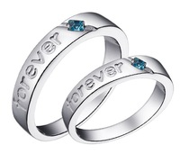 Silver ring lovers ring Women 8 - 16 Men 17 - 25