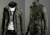 New 2014 autumn fashion England men jacket slim coat casual outerwear jackets for men sportswear plus size 4XL C044