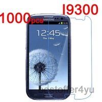 1000pcs Anti-scratch CLEAR LCD i9300 Screen Protector Guard Cover Film For Samsung Galaxy S3 SIII i9300 Protective Film + cloth