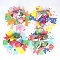 Boutique Hair Bows Ribbon Flower Hairpins Girl Baby Barrettes&hair clip Children Hair Accessories Girls Hair ornaments 12pcs/lot
