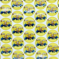 1'' Free shipping minions 3D dome round clear Epoxy Resin sticker for Bottle cap DIY Self Adhesive hair bow 25mm H2544