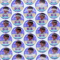 1'' Free shipping Doc McStuffins 3D dome round clear Epoxy Resin sticker for Bottle cap DIY Self Adhesive hair bow 25mm H2540