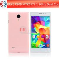 Cheap Dual core phone JIAKE X909 MTK6572 smartphone 1.2GHz 5 inch android 4.2 Phone Dual Cameras 3G GPS Bluetooth WCDMA