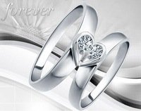 Lovers ring Women 8 - 20 male 13 - 25 gold plated ring 1 a pair