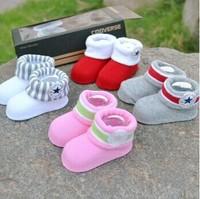 2014 HOT gift box set 4 pairs / lot new brand Three-dimensional baby socks newborn super cute kids socks for newborn baby socks