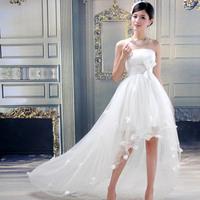 2013 train wedding dress bride formal dress sweet princess short trailing the bride wedding dress formal dress