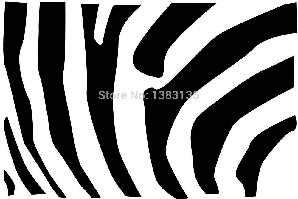 A Zebra Striped Pattern Silhouette Sticker Car Window Truck SUV Door Laptop Kayak Art Wall Etc High Quality Vinyl Decal 8 Colors(China (Mainland))