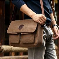 2014 New Korean Retro Vintage Men Messenger Bags Casual Male Students School Satchel Shoulder Bags canvas crossbody travel bag
