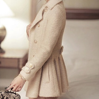 fashion new 2014 women winter wool coat long sections woolen elegant