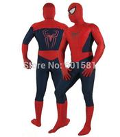 1pcs moda HALLOWEEN Cosplay  amazing Spiderman 2 Costume Spandex high Elasticity Spiderman Costume for halloween party show