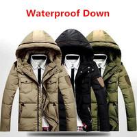 2014 BRAND Down Jacket Winter Jacket Men Coat White Duck Nano Waterproof Thicken Outwear Hooded Men's Parka Big Size 3XL