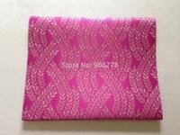 fushia pink color  Jubilee sego gele headtie  latest design 2pcs/bag african fashion fabric Jacquard damask brocade fabric