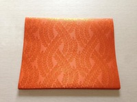 orange color  Jubilee sego gele headtie  latest design 2pcs/bag african fashion fabric Jacquard damask brocade fabric