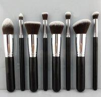 Three Colors 8PCS Makeup Brushes Cosmetics Foundation Blending Makeup Brush Kit Set Wooden Makeup tool Free shipping