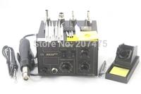 NEW 220V/110V Saike 852D++ Hot Air Rework Station soldering station BGA De-Soldering 2 in 1 with lots of accessories
