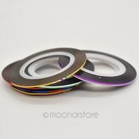 2014 New 10 PCs Mixed Colors Rolls Striping Tape Line DIY Nail Art Tips Decoration Sticker Nails Care Art Accessories 2X MPJ123