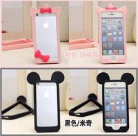 Cute Cartoon Soft Silicone Rubber Bumper Frame Case For Iphone 4S 4 Bumper for iphone 4s 4 case for iphone 4 4s