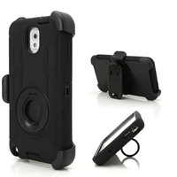 Rugged Hybrid Rubber Hard Case Cover and Belt Clip Holster for Samsung Galaxy Note 3 III  N9000, Free shipping