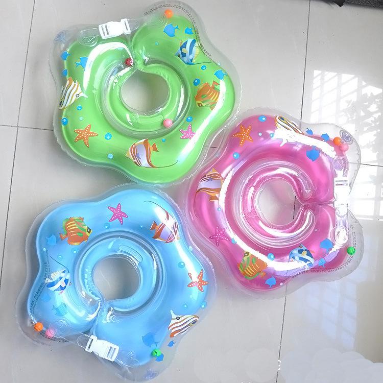 New infant baby swimming neck float ring swim circle free shipping
