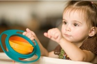 Universal Gyro 360 degree Rotate Spill-Proof Bowl Dishes For Children Kid Baby Tableware2014 New