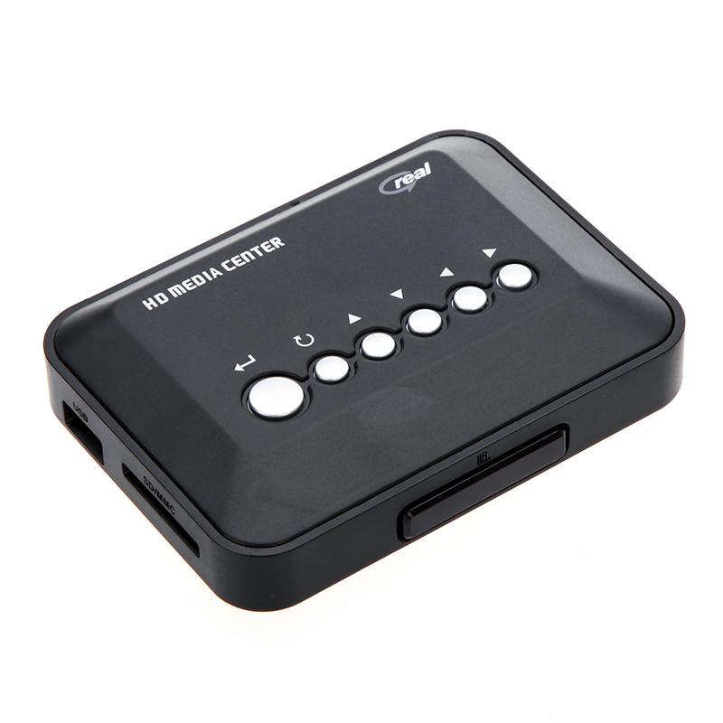New! 720P HD Media Center RM/RMVB/AVI/MPEG Multi Media Video Player with AV YPbPr USB SD/MMC Port Remote Control Free Shipping(China (Mainland))