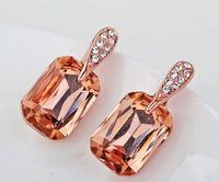 Italina Rigant 18K Rose Gold Plated Elegant Heart Earring With Austrian Crystal Stellux Dont Lose Color