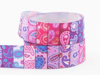 2014 Fashion 25mm 1 inch cashew nut ribbon for Bow Hair DIY handmade Pink ribbons X1781 Free shipping