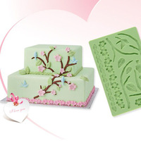 3D Heart  Leaves shapes Gum Paste Cake Fondant Silicone Mold Embossing Mold DIY 20pcs Wholesale