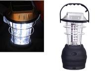 Newest Outdoor 36 LED Solar Panel Hand Crank Lamp Dynamo Light Torch Flashlight Camping Lantern Free Shipping