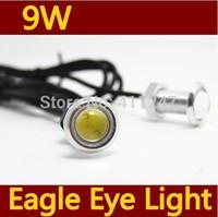 2pcs Free Shipping Car DIY 1.9Cm 9W 500-Lumen Waterproof Eagle Eye LED Lights Bulb Daytime Running/Brake Lamps / Lights