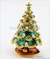 Handmade christmas tree shape jewelry box for christmas tree christmas luxury jewelry gift boxes SCJ729
