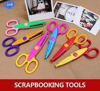 18pcs / lot ,  colorful lace scissors for scrapbooking , paper cutting scrapbook scissors for DIY decoration tools