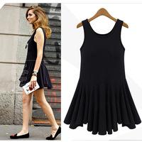 2014 summer new women big swing sleeveless vest bottoming shirt Slim dress wholesale Europe and America BM-023