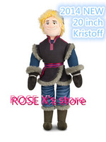 Free Shipping.Wholesale Price,2014 New Frozen Kristoff Plush Doll 50cm Stuffed Elsa Anna Soft Toy,Christams Birthday Gift
