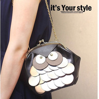 Desigual Personalized Women owl bags Chain Messenger Bag Small Female One Shoulder Bag Phone Holder Purse pu leather 140804M