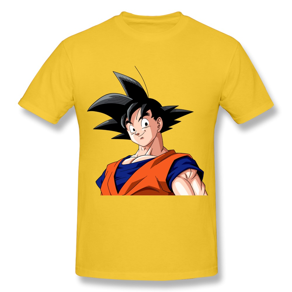 New 2014 O-Neck T Shirt Mens Strong goku of anime dragon ball Creat Own Music Logo Men T Shirt High Quality(China (Mainland))