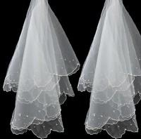 2014 New Arrival High Quality White Soft Gauze Bridal Veil Wedding Veils Bridal Romantic Fashion Hair Accessories Drop Shipping