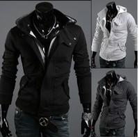 Fashion  hoodie Hot warm Collar new brand men's Jackets warm coat hoodie cotton warm collar cap Men free shipping 2014